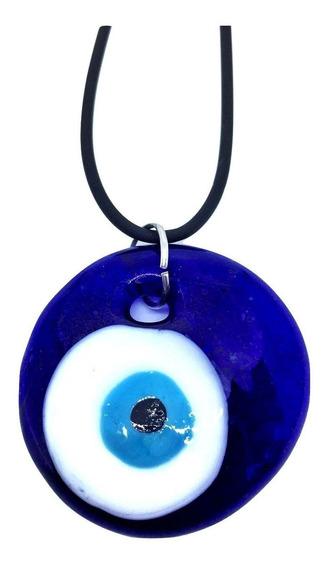 Colar Esotérico De Olho Grego Turco Amuleto Talismã 4 Cm