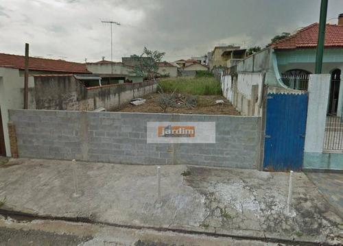Terreno Residencial À Venda, Campestre, Santo André. - Te0050
