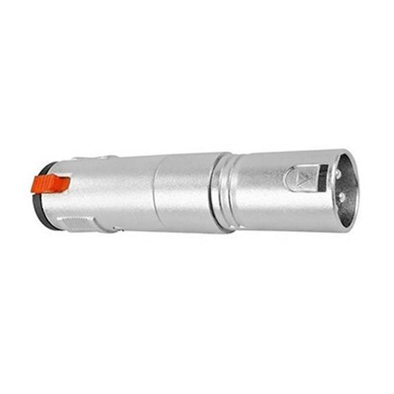 Plug Adaptador Xlr Macho X Jack P10 Fêmea Estéreo Com Trava