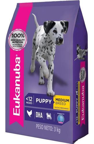 Imagen 1 de 2 de Comida Perro Eukanuba Cachorros Razas Medianas 3kg