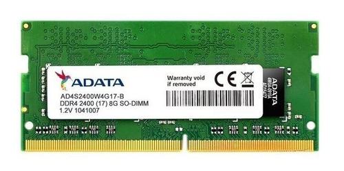 Memoria Adata 8 Gb Ddr4 Pc4 2400 Ae4s240038gb17-bhya Memtest