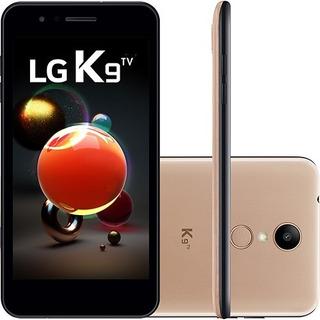 Celular Smartphone Lg K9 Tv 16gb Dourado Vitrine