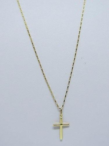 Cordão Corrente Masculina 80cm+ Pingente Crucifixo Ouro 18k