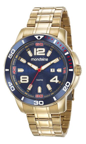 Relógio Banhado A Ouro Masculino 83464gpmvds1 Original, Nfe