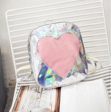 Holografica Mochila Coração