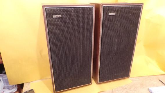Caixas De Som Philips Antigas Modelo Rh 485 Anos 70 Raras