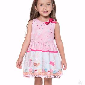 92409dc7e0 Vestido Coelhinho Infantil Mon Sucre Infantil 13.10.31078