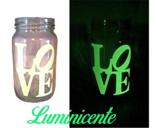 Frasco Vaso, Frases, Imagen, Souvenir, Luminicente Novedad!!
