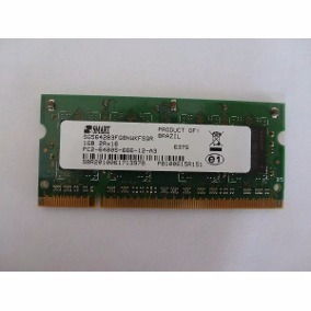 Memoria Notebook 1gb Ddr2 Pc2-6400s-666-12-b3 1rx8 Smart