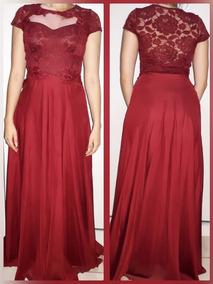 Vestidos Femininos - Vestido Longo Marsala - Usado