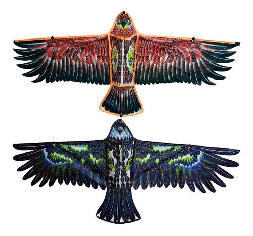 Barrilete Cometa Forma De Águila Animal + Hilo Juguete Niño