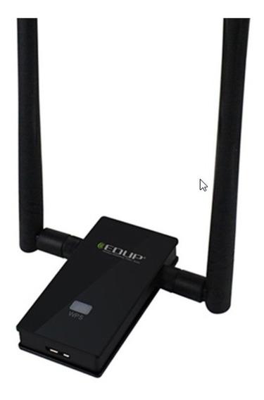 Adaptador Wi-fi 1200 Mbps 5,8 Ghz 2 Antenas Longa Distancia