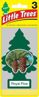 Pino Aromatico Little Trees 3 Pack Royal Pine 8 Unidades