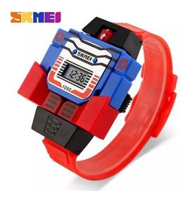 Relógio Infantil Skmei Transformers Optimus Prime Vira Robô