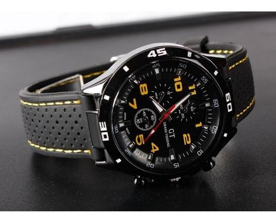 Reloj Analógico De Cuarzo, Sport Gt, Correa Negra,