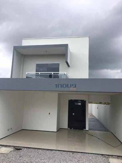 Casa Com 4 Dormitórios À Venda Por R$ 390.000,00 - Tamatanduba - Eusébio/ce - Ca0722