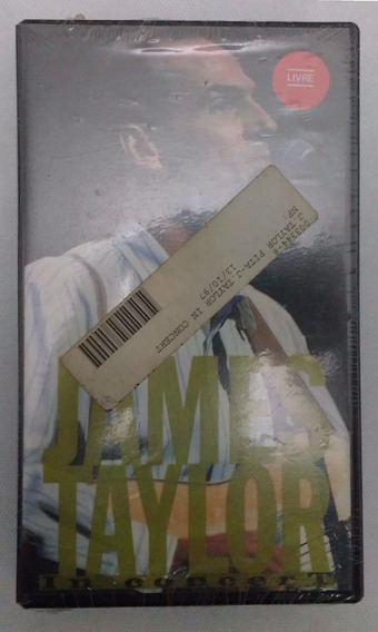 James Taylor In Concert - Fita Vhs Sony Music 1988 Lacrada