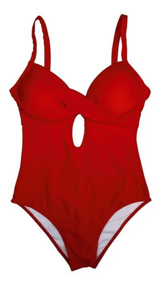 Maiô Frente Traçado Clássico Bojo Moda Praia Feminina