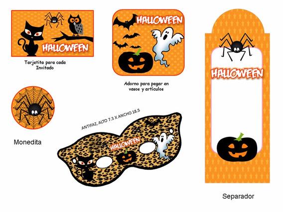 Kit Imprimible Halloween Candy Bar Golosinas Tarjetas