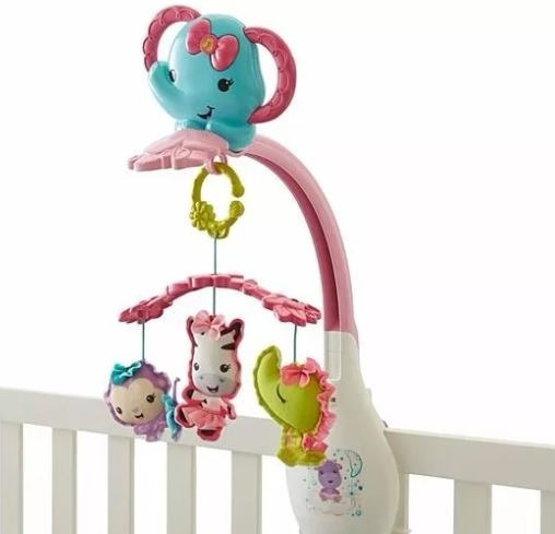 Fisher Price Movil Musical 3 En 1 Rosa Drd69