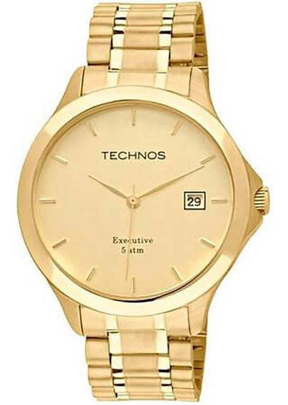 Relógio Technos Masculino Dourado Classic Steel 1s13bwtdy/4x