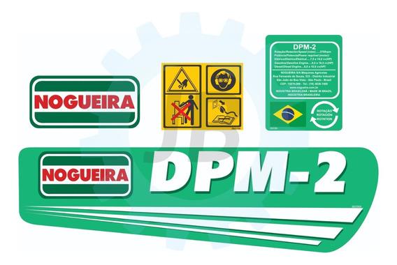Kit Adesivos P/ Triturador Dpm-2 - Nogueira