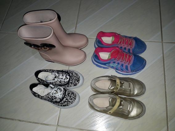Kit 4 Calçados Infantis Menina 30 - 31