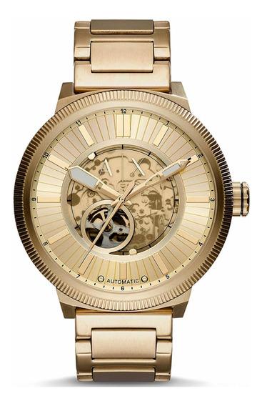 Relógio Armani Exchange Automático Aço Rosé Gold Ax1417