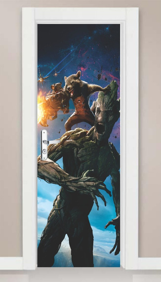 Marvel Sou Groot Guardiões da Galáxia Vinyl Decal Adesivo Laptop Decoração De Quarto