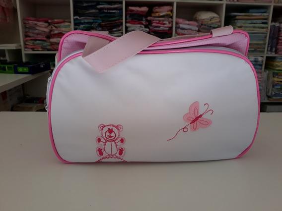 Kit Bolsa Rosa Bebê Menina 01 Tamanho G E 01 Tamanho M