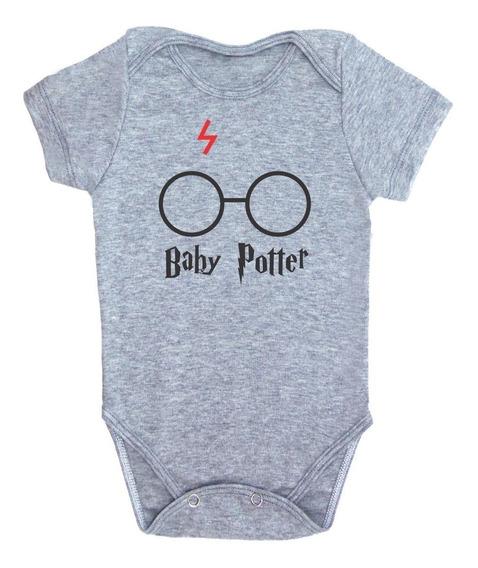Body Bebê Harry Potter Baby Potter Body Bebê Nerd