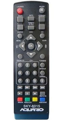 Controle Remoto Conversor Digital Sky-8015 Aquários