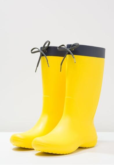 Crocs Mujer Freesail Rain Boot - Lemon