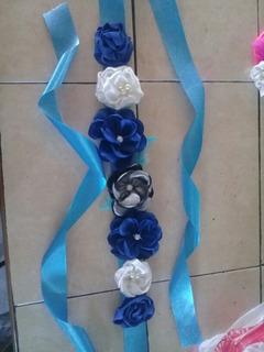 Cintillo De Maternidad - Cinturón - Listón De Flores- Bebes
