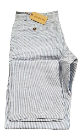 Pantalon De Lino Rayado Kooga Kiama - 50 Al 54