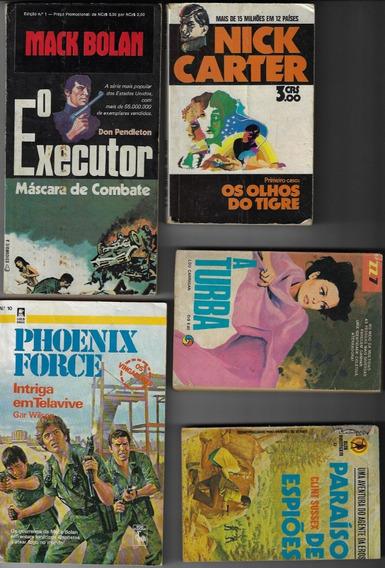 1970/87 - 5x Livro De Bolso Tema Policial Cedibra Monterrey