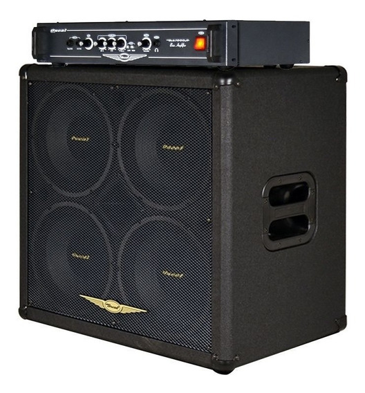 Cabeçote Oneal 300 Watts Rms Ocb1000h + Caixa 4 Falantes 10