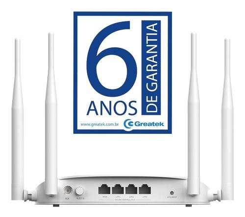 Imagem 1 de 8 de Roteador Wi-fi Greatek 1200mbps Porta Gigabit