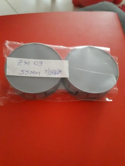 Jogo Calotinha Centro Da Roda 55mm C/borda Zm09