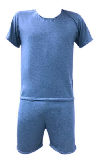 Kit 6 Pijama Curto Masculino Manga Curta Short Adulto