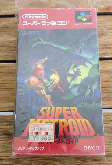 Super Metroid Original E Completo Cib Super Famicom Perfeito