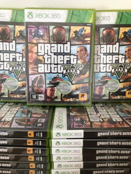 Gta Xbox V 360 Mídia Física Original Lacrado 2 Discos + Mapa