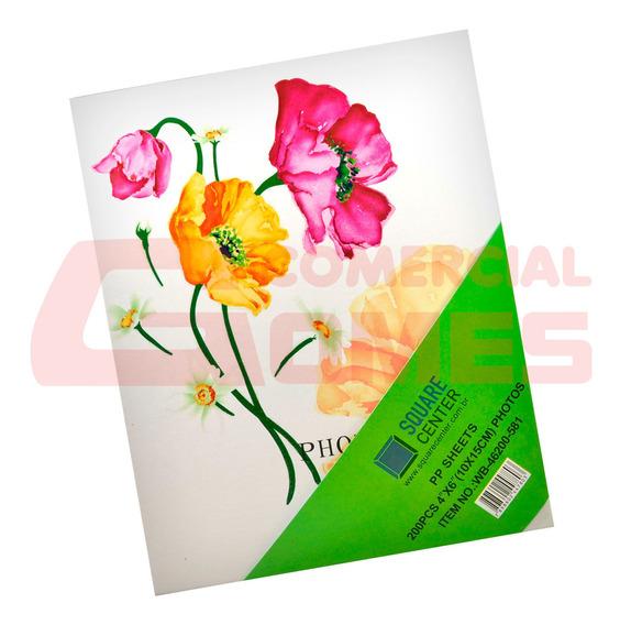 Album Flores Para 200 Fotos 10x15 Cm Wb-46200-581