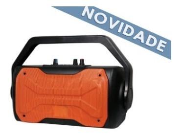 Speaker Bluetooth 60w Fuss Sk409 Preto/laranja Oex