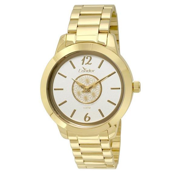 Relógio Condor Masculino Cronógrafo Dourado Covd54ar/4d