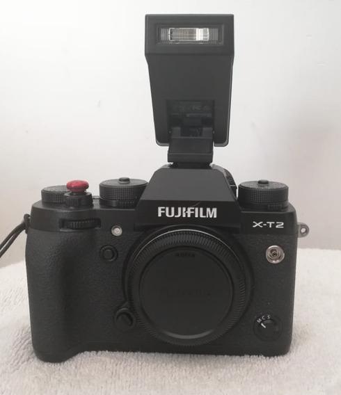 Fujifilm Xt2 (cuerpo) Impecable Poco Uso + Flash + Bateria