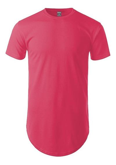 Kit 02 Camiseta Camisa Blusa Oversized Longline Masculina
