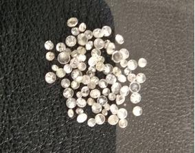 Lote Com 75 Pedras Diamantes Brilhantes Naturais De 0.5 0.8