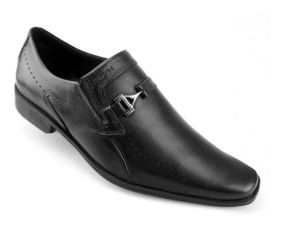 Sapato Social Masculino Ferracini Couro Preto 5069-223g