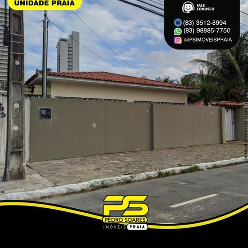Casa Com 4 Dormitórios À Venda Por R$ 2.600.000,00 - Manaíra - João Pessoa/pb - Ca0911